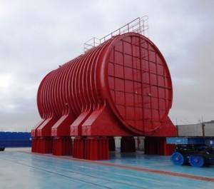 塗装後の原子炉区画