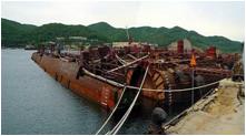 海上保管中の3区画unit